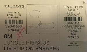 TalbotsSneakersPrice